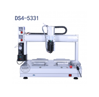 Dual slide desktop hot melt adhesive automatic dispenser